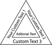 Triangle With Additional Text