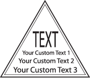 Triangle with 4 lines Text