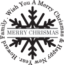 Chrismas Wish Stamp with Family Name