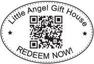 Oval Line Stamp with QR Code & Text