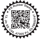 Special QR Code Stamp with Text