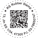Dotted Round QR Code Stamp With Text