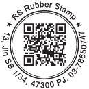 Round QR Code Stamp with Inner Line & Text