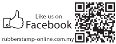 Like Us On FB QR Code Stamp with 1 Bottom Text