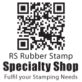 QR Code Stamp with 3 Line & Bold text