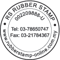 Round Company Stamp with Curve and Center Text 2
