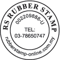 Round Company Stamp with Curve and Center Text
