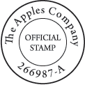 Round Company Stamp 2 Line Center Text